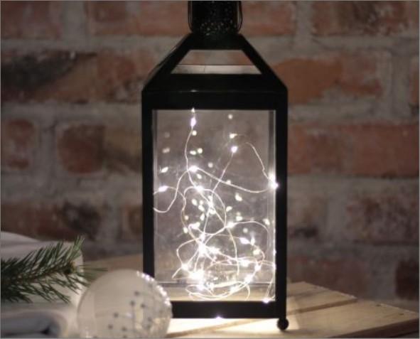 Lampion z światełkami
