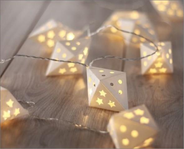 Ozdoby LED w romby