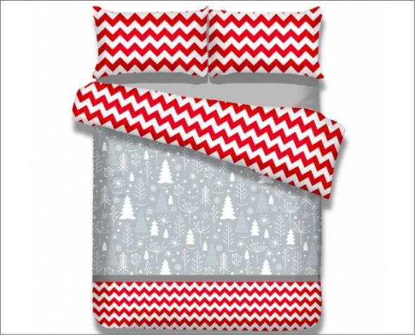 Pościel w świąteczny wzór snuggy