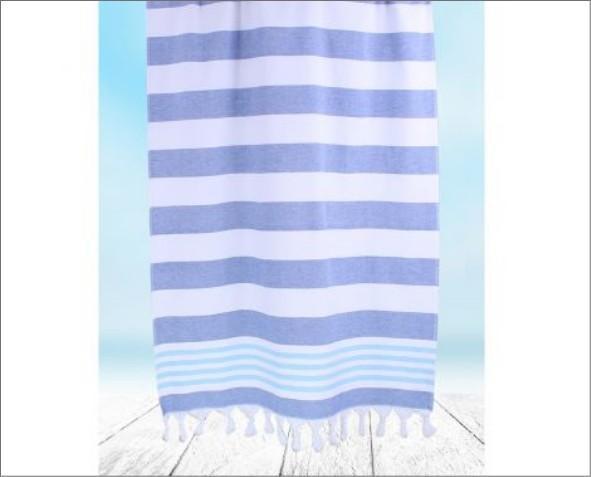 Niebieski Ręcznik Santorini